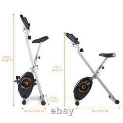 Folding X-BIKE Exercise Bike Stationary Bicycle Home Cycling Cardio Workout Gym