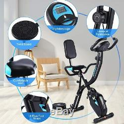 Folding X-Shape Workout Exercise Bike 10 Level Magnetic Resistance Fitness App