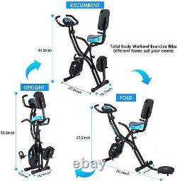 HOT Indoor Exercise Slim Folding Bike 3-in-1 Stationary Magnetic Cycle Home