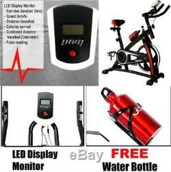 Heavy Duty 18kg Flywheel Exercise Bike Home Fitness Gym Led Monitor