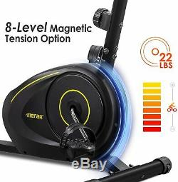 Home Recumbent Exercise Bike Magnetic 8-Level Resistance withBluetooth Stationary