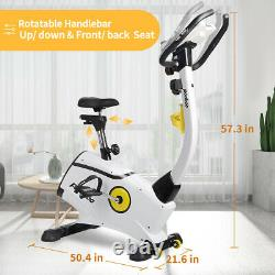 Home Upright Stationary Exercise Bike Bicycle Cycling Fitness Gym Cardio Workout