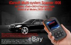 Icarsoft I906 Obdii Diagnostic Scanner 4 Volvo Saab Srs Reset Erase Vida Dice