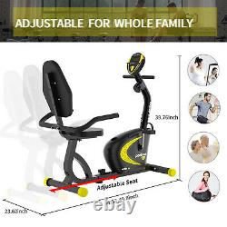 Indoor Cardio Gym Magnetic Resistance Cycling Stationary Recumbent Exercise Bike