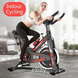 Indoor Cycling Bike Exercise Spin Bicycle Stationary Bikes withMonitor Display AA