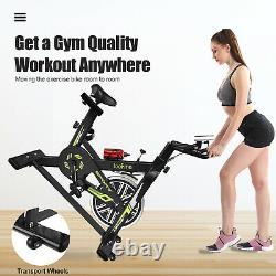 Indoor Cycling Bike Stationary Exercise Bike Home Cardio Workout Cycling Machine
