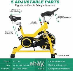 Indoor Cycling Bike Stationary Exercise Bikes withLCD Monitor Home Cardio Workout