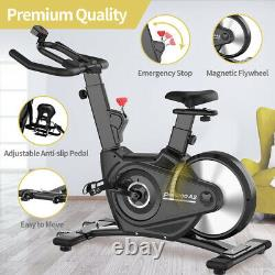 Indoor Exercise Bike Belt Driven Magnetic Resistance Stationary Cycling Bike New