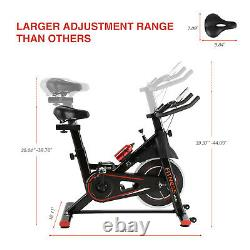 Indoor Exercise Bike Cycling Upright Bike Stationary Home Cardio Workout Machine