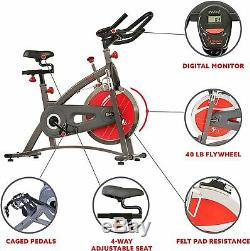 Indoor Exercise Bike Spinning Cycling Stationary Fitness LCD Display Flywheel