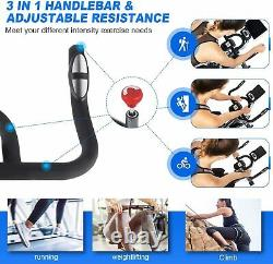 Indoor Exercise Bike Stationary, 49Lbs Cycling Bike with Heart Rate LCD