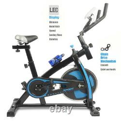 Indoor Exercise Bike Stationary Cycling Bicycle Cardio Fitness Gym Workout Blue