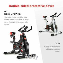 Indoor Exercise Bike Stationary Cycling Bicycle Cardio Fitness Gym Workout LCD