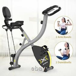 Indoor Folding Exercise Bike Resistance Cycling Cardio Bicycle Home Gym Workout