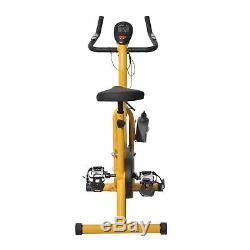 Indoor Upright Stationary Cycling Exercise Bike Cardio Training withLCD Monitor