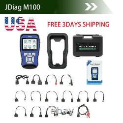 JDiagM100 Motorcycle Scan Diagnostic&battery tester for Honda Yamaha Suzuki