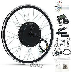 JauoPay 48V 1000W Electric Bicycle Conversion Kit LCD 26 E-Bike Rear Wheel