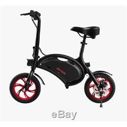 Jetson Bolt Electric Bike Black/Red Compact Bluetooth 12 Wheels JBOLT-RED-BT
