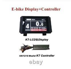KT-LCD8 Color Ebike Display+ KT 36V/48V 6/9/12/18 Controller for Eletric Bicycle