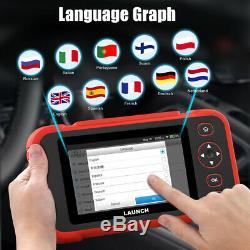 LAUNCH X431 CRP129i OBD2 Scanner Car Diagnostic Tool Tablet ABS SRS SAS Oil TPMS