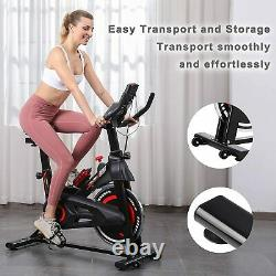 LCD Display Exercise Bike Stationary Indoor Cycling/Belt Drive Spin Bike Gym NEW