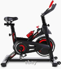 LCD Display Exercise Bike Stationary Indoor Cycling/Belt Drive Spin Bike Home