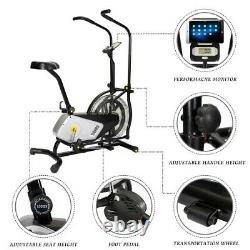 LED Home Indoor AIR Cycling BIKE Bicycle Fitness Cardio Exercise Bike Home Gym