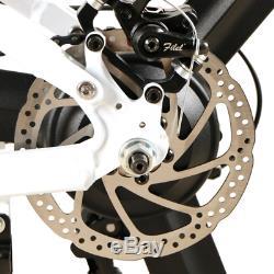 LO26 Folding Electric Bike 48V 350W E Bike Off Road Pedal Assist LCD Display