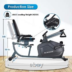 MaxKare Recumbent Exercise Bike Stationary Magnetic Indoor Cycling Bike with Arm