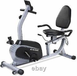 Maxkare Magnetic Recumbent Exercise Bike Indoor Stationary Bike Adjustable Seat