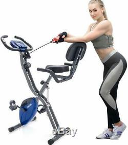 Merax 3 in 1 Folding Stationary Exercise Bike Magnetic Upright Recumbent Bike