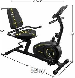 Merax Recumbent Exercise Bike Magnetic 8-Level Resistance withBluetooth Stationary