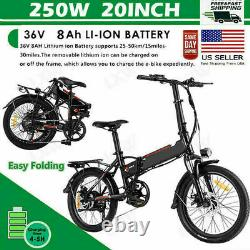 NEW 20 36V 10.8 AH 250W Folding Electric Bike Beach Bicycle City Ebike LCD