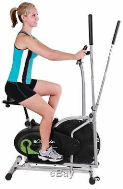 NEW Dual Trainer Cardio Bike Exercise Fitness Indoor Stationary Bicycle Workout