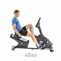 Nautilus Recumbent Bike Equipment Dual Track LCD Display Cardio Fitness Exercise