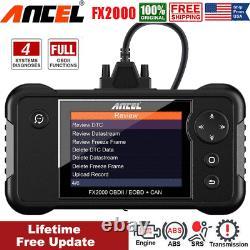 New ANCEL FX2000 Engine Transmission ABS SRS Code Reader OBD2 Scanner Diagnostic