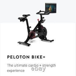 Peloton Bike + Plus Rotating 23.8 HD touchscreen 4-channel audio 2x3 woofers