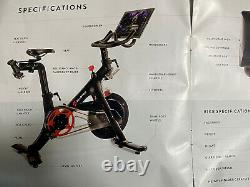 Peloton Bike w Tools, Weights, W Shoes 8, Extra Touch Screen- Excellent Condition