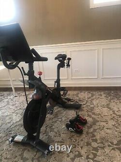 Peloton Exercise Bike Almost Brand New! EX Cond. Includes dumbbells