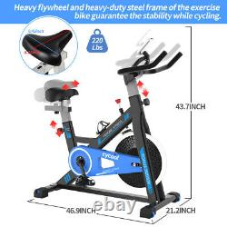 Pro Exercise Stationary Bicycle Cycling Fitness Gym Bike Cardio Workout Bicycle