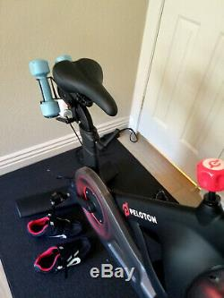 Rarely used excellent Condition Peloton Bike Less than 9 Rides plus Accessorie