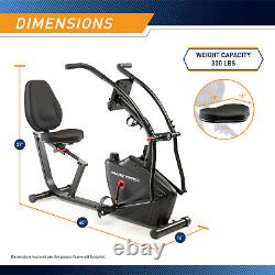 Recumbent Bike Dual Action Exercise Bike with Arm Exercisers Marcypro JX-7301