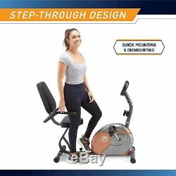 Recumbent Exercise Bike Fitness Stationary Bicycle Cardio Workout Indoor Cycling