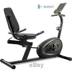 Recumbent Exercise Bike With8-Level Resistance Bluetooth Monitor Adjustable Seat