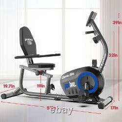 Recumbent Magnetic Elliptical Exercise Bike-Seated Support Rehabilitation Cycle