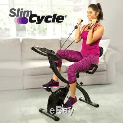 Slim Cycle Gym Bicycle Cycling Health Fitness Exercise Stationary Bike Cardio