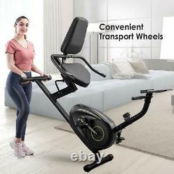 Sport Recumbent Magnetic Exercise Bike-Seated Fitness Train Cycle 8-L Resistance