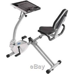 Stamina 2-in-1 Recumbent Exercise Bike Workstation and Standing Desk 15-0321