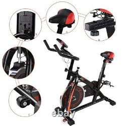 Stationary Exercise Bicycle Cycling Indoor Bike Cardio Workout Fitness Movable