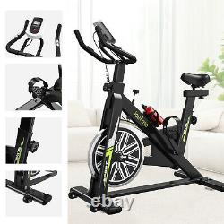 Stationary Exercise Bicycle Indoor Bike Cardio Health Cycling Home Fitness LCD